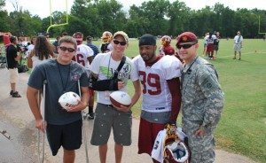 NFL REDSKINS MEET WITH INJURED AMERICAN HEROES