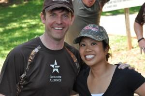 Actor Erik Stolhanske and Marine Lt Kat