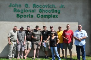Troops posing after the pistol competition