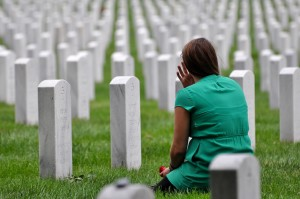 Freedom Alliance Scholarship Recipient Kate James visits her father at Arlington National Cemetery