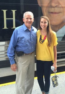 Shannon Zangas with Oliver North