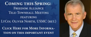 Join Oliver North for a Teletown Hall meeting this spring.