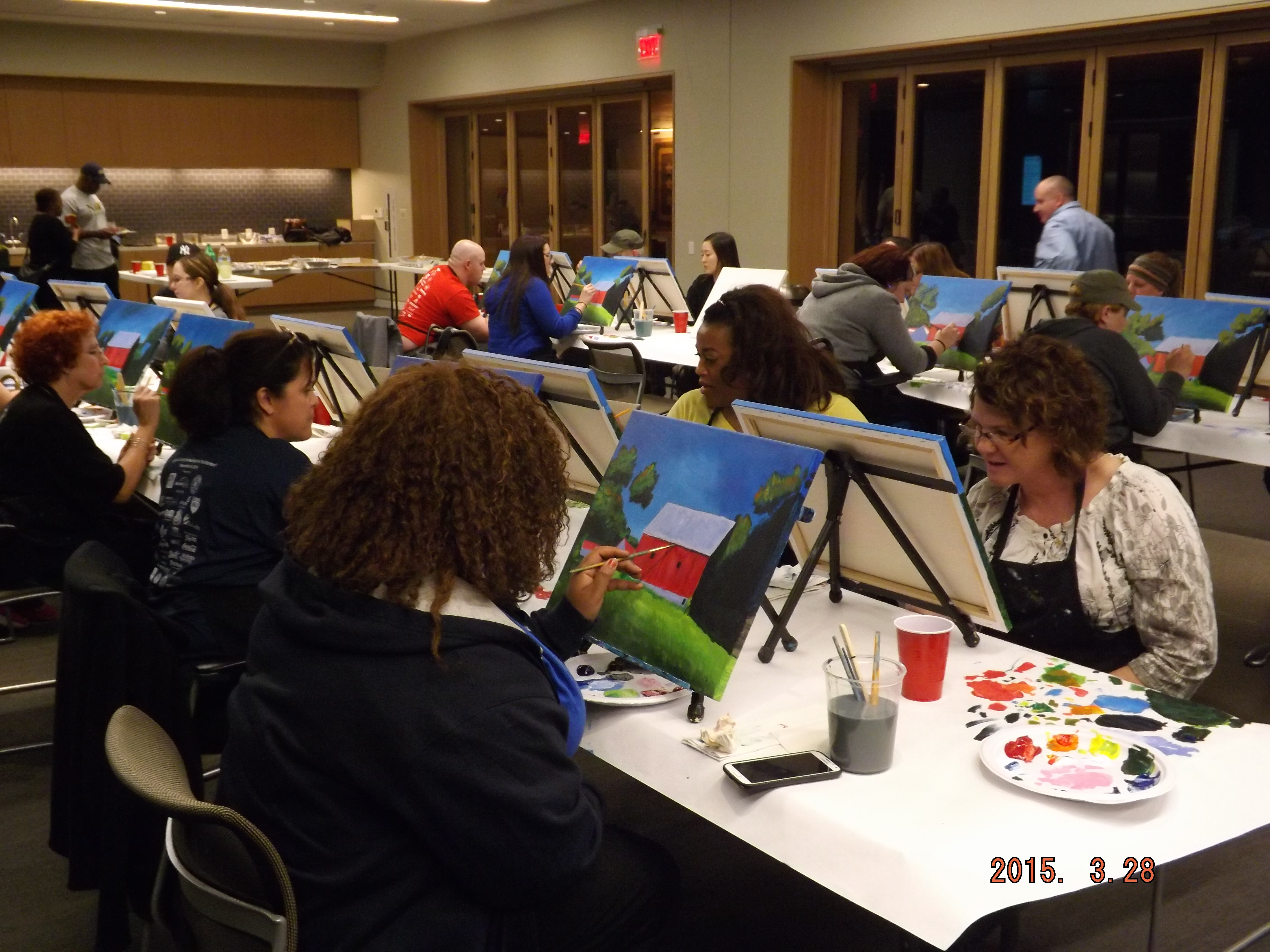 Walter Reed Paint Night 2