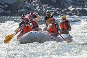 Veterans take a combination rafting and fishing trip down the Lower Salmon River
