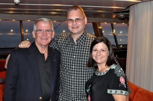 Matt & Bonnie Lutynski with LtCol Oliver North aboard the Freedom Cruise