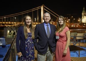Oliver North with Freedom Alliance Scholarship Recipients on the Freedom Cruise