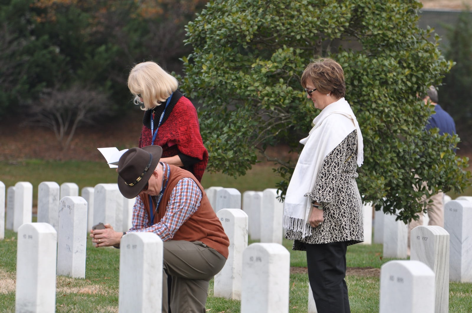 Freedom Alliance Army-Navy Weekend attendees pay respects to our fallen troop at Arlington National Cemetery