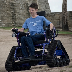 Freedom Alliance presented and All-Terrain Wheelchair in St. Augustine, Florida.