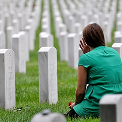 Picture of Freedom Alliance Scholarship Fund Recipient visiting Arlington National Cemetery